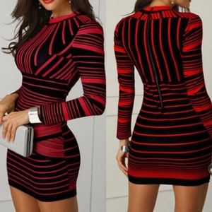 Dresses & Skirts - 5⭐️RATED✅❤️LONG SLEEVE STRIPED The -Delilah- dress